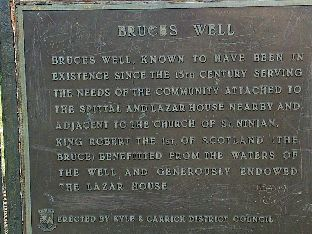 Bruce's Well, Prestwick